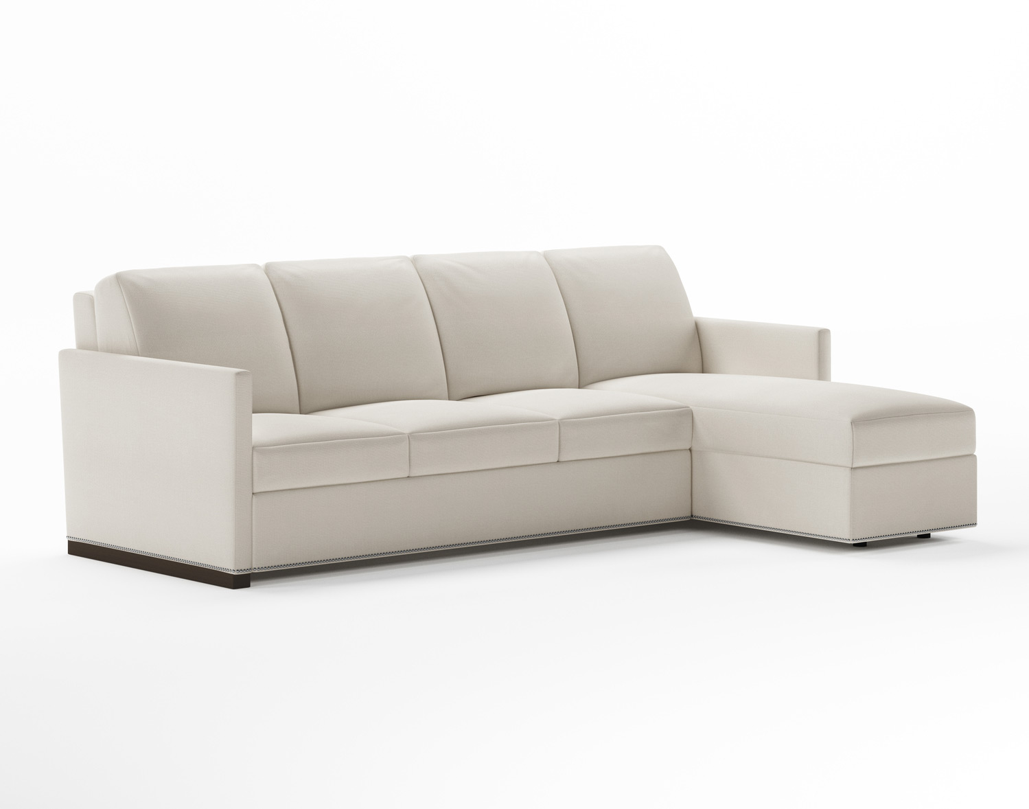 Pearson Convertible Comfort Sleeper Sectional with Nailhead Trim