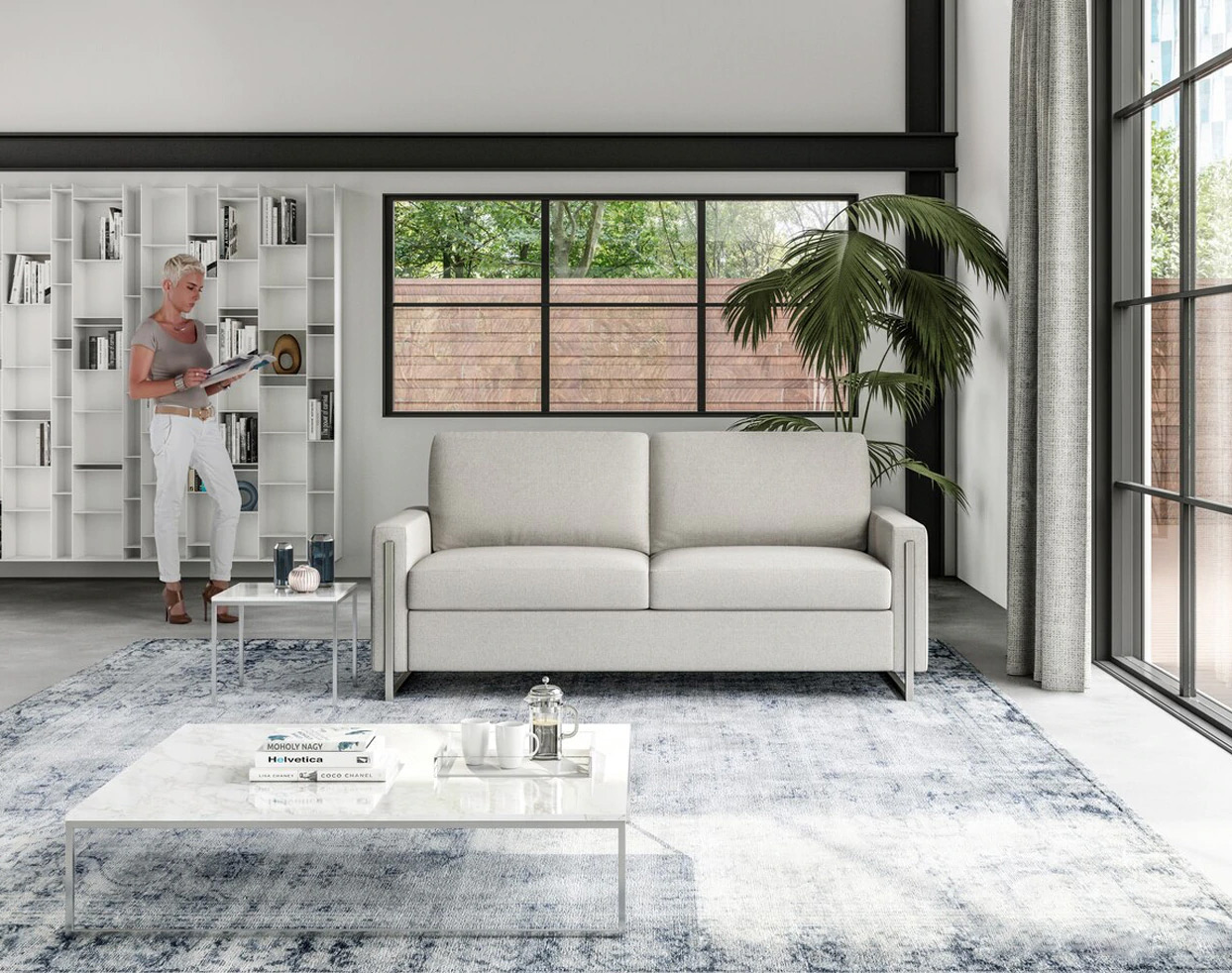 Sulley Convertible Comfort Sleeper Sofa in Lifestyle