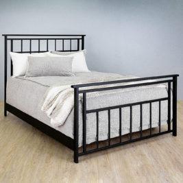 Aspen Queen Complete Bed in Matte Black Finish