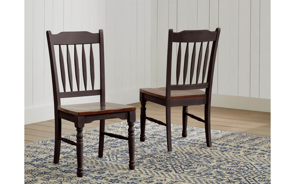 AAmerica British Isles Slatback Chair Antique Oak