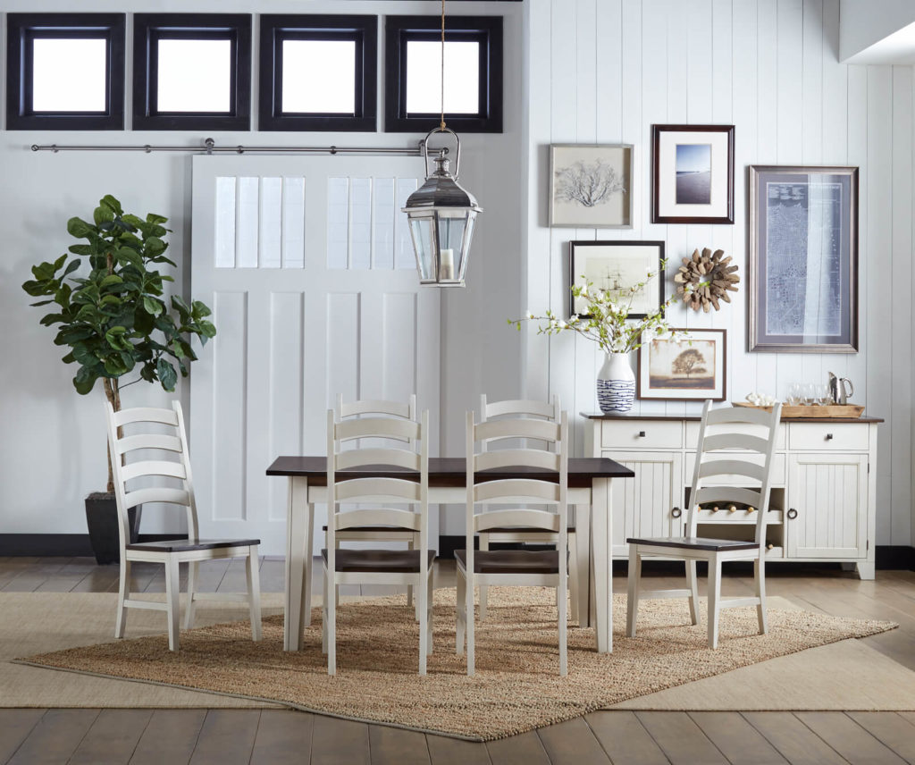 AAmerica Chalk White Cocoa Bean Chair