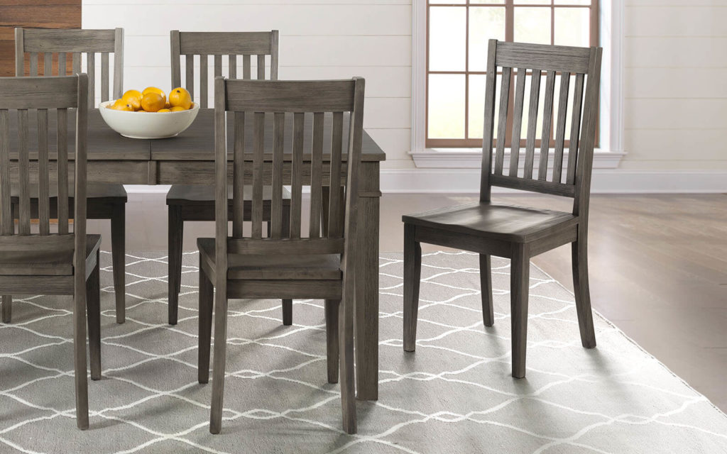 AAmerica Huron Slatback Chair Distressed Gray