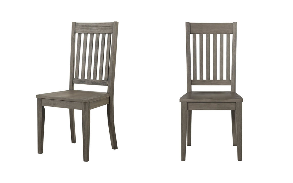 AAmerica Huron Slatback Chair Distressed Gray 2