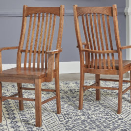 AAmerica Laurelhurst Slatback Chair With Arms