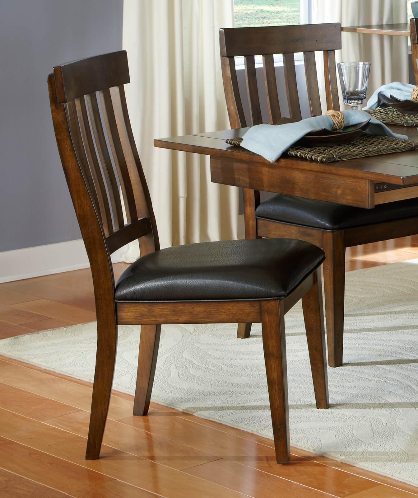 AAmerica Mariposa Slatback Chair Rustic Whiskey