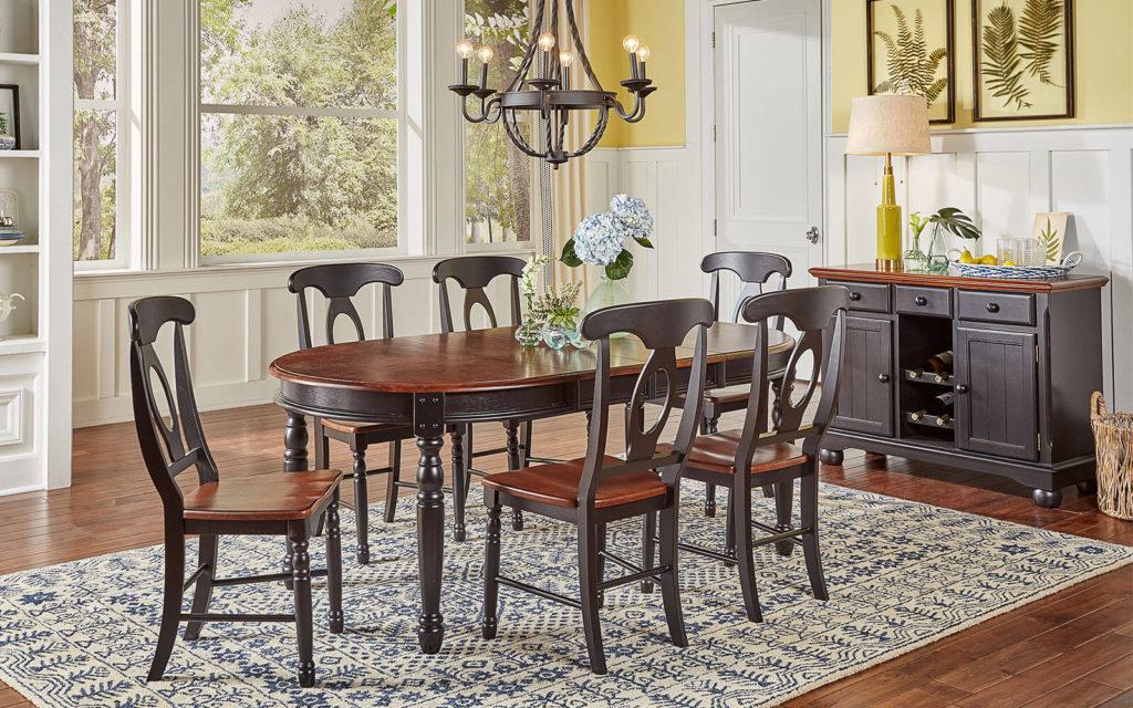 AAmerica Napoleon Chair Antique Oak Black