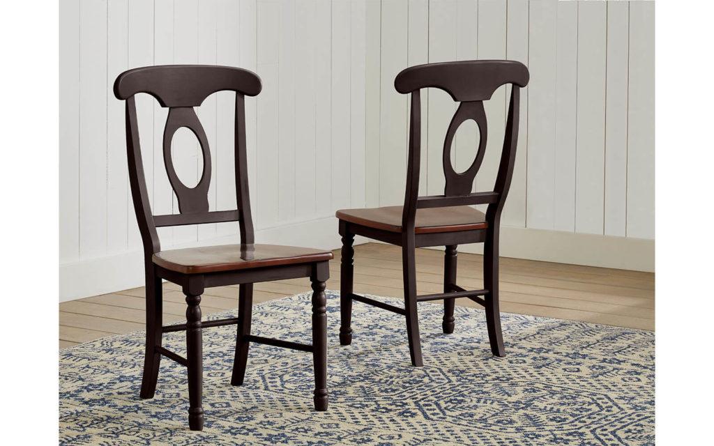 AAmerica Napoleon Chair Antique Oak Black 2