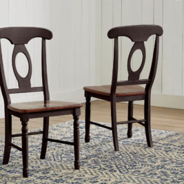 AAmerica Napoleon Chair Antique Oak Black 2