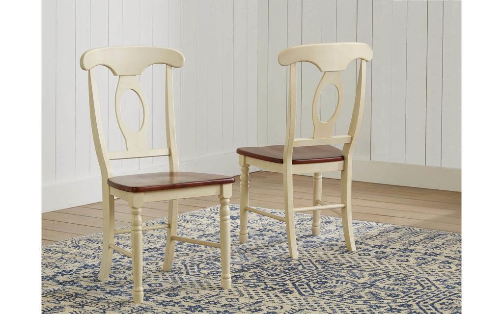 AAmerica Napoleon Chair Merlot Buttermilk