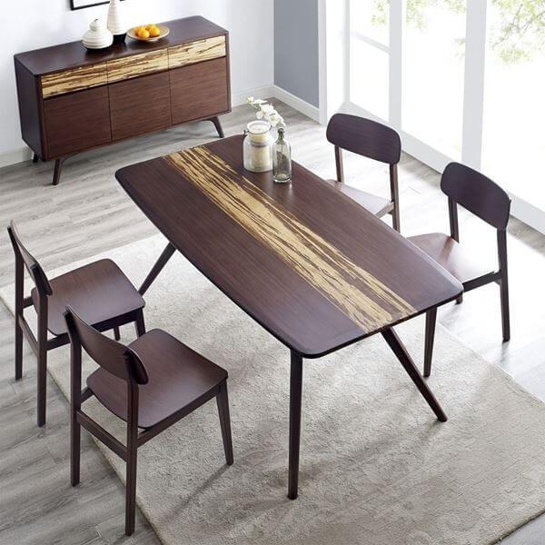 Greenington Azara Dining Table Sable Top View