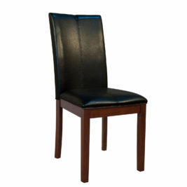 AAmerica Black Parsons Curved Back Chair