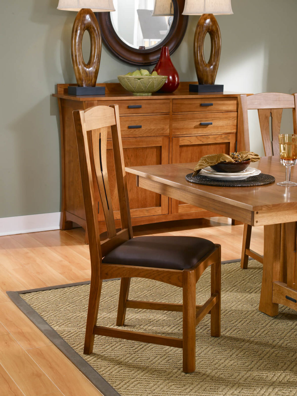 AAmerica Comfort Side Chair Amber Side View