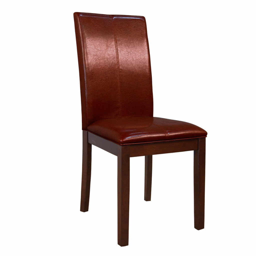 AAmerica Red Parsons Curved Back Chair