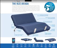 Aviada Rize Adjustable Base Diagram