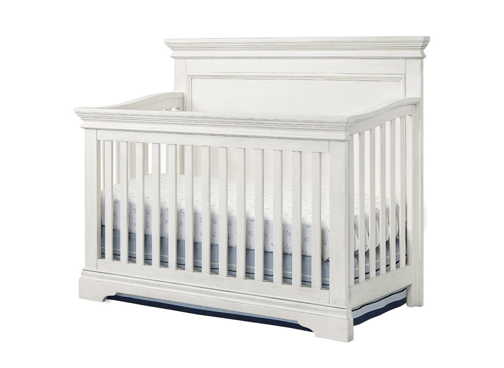 Riley Crib in Brushed White Finish