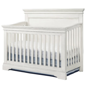 Riley Crib in Brushed White Finish