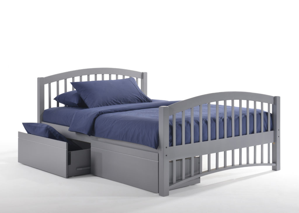 Full Zest Molasses Bed in Gray with Drawer