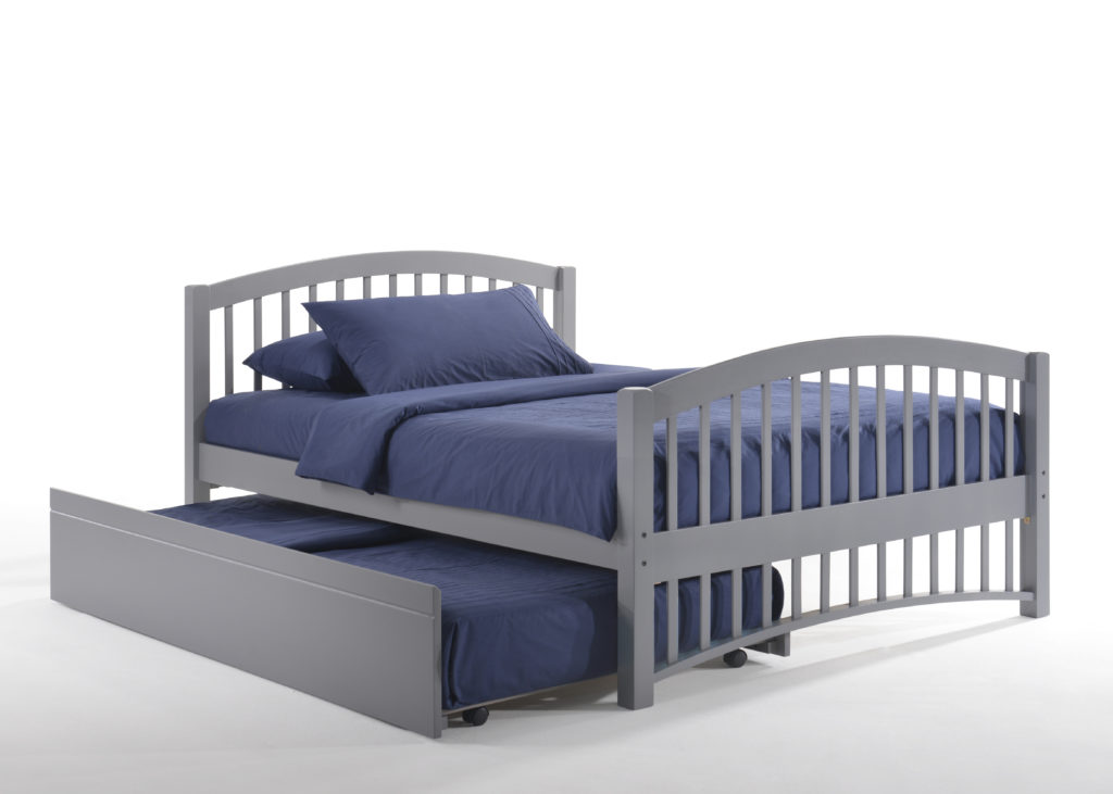 Full Zest Molasses Bed in Gray with Trundle