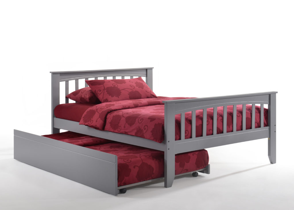 Full Zest Sarsaparilla Bed in Gray with Trundle