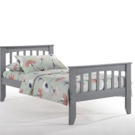 Twin Zest Sarsaparilla Bed in Gray