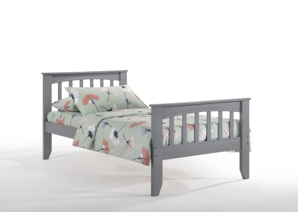 Twin Zest Sarsaparilla Bed in Gray