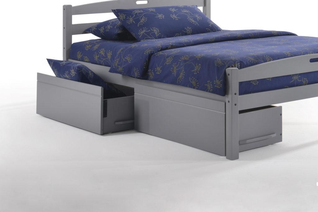 Zest Storage Drawer Pair in Grey
