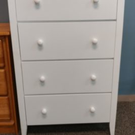 havana 4-drawer chest white