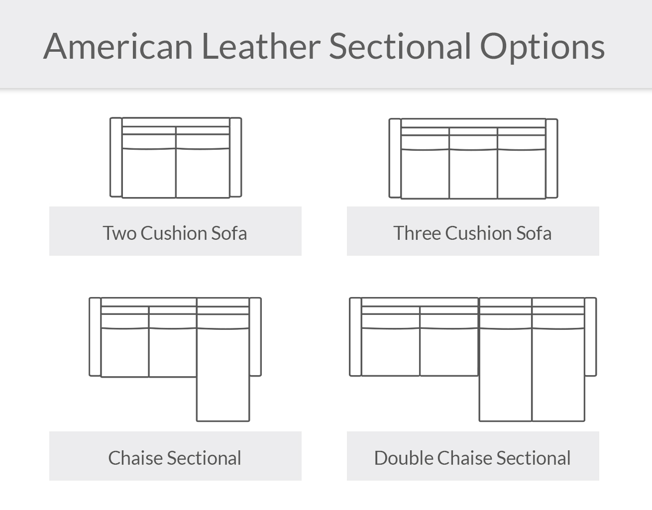 American Leather Sectional Options