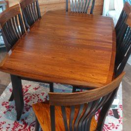 Barkman Christy Table w: leaf brown Maple