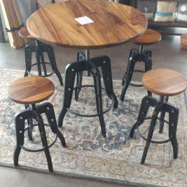 IFD Parota Bistro Table w/ 4 stools