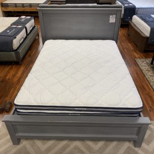 North American Wood Furniture City 6001 Bed with Double Drawers Frankfurt Grey 02