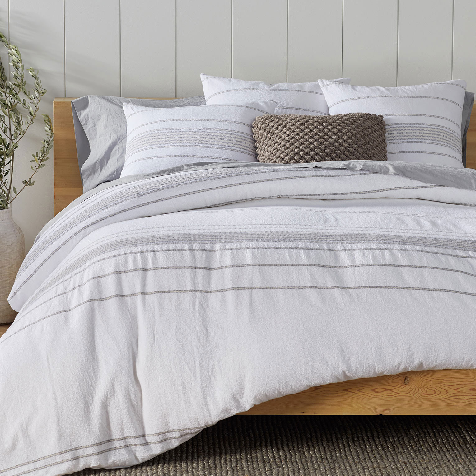 Coyuchi Rippled Stripe Organic Duvet Cover Bedrooms More Seattle