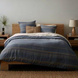 Coyuchi Lobos Organic Duvet Cover - Azure