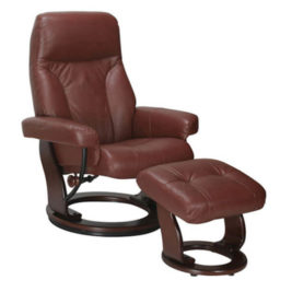 Benchmaster Milano Leather Reclining Chair Cognac