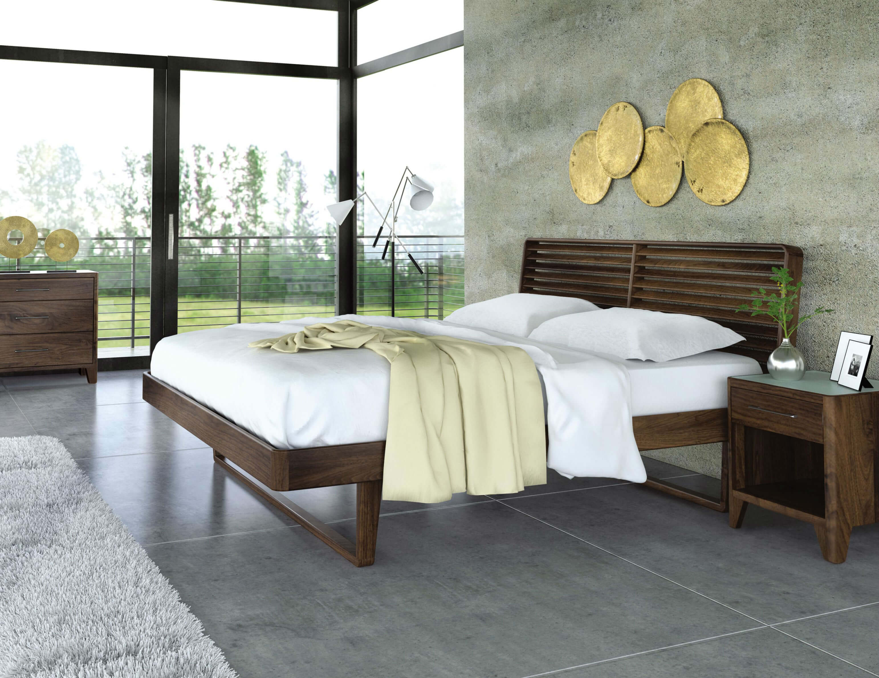 Bu0026M Copeland Contour Bedroom Set Lifestyle