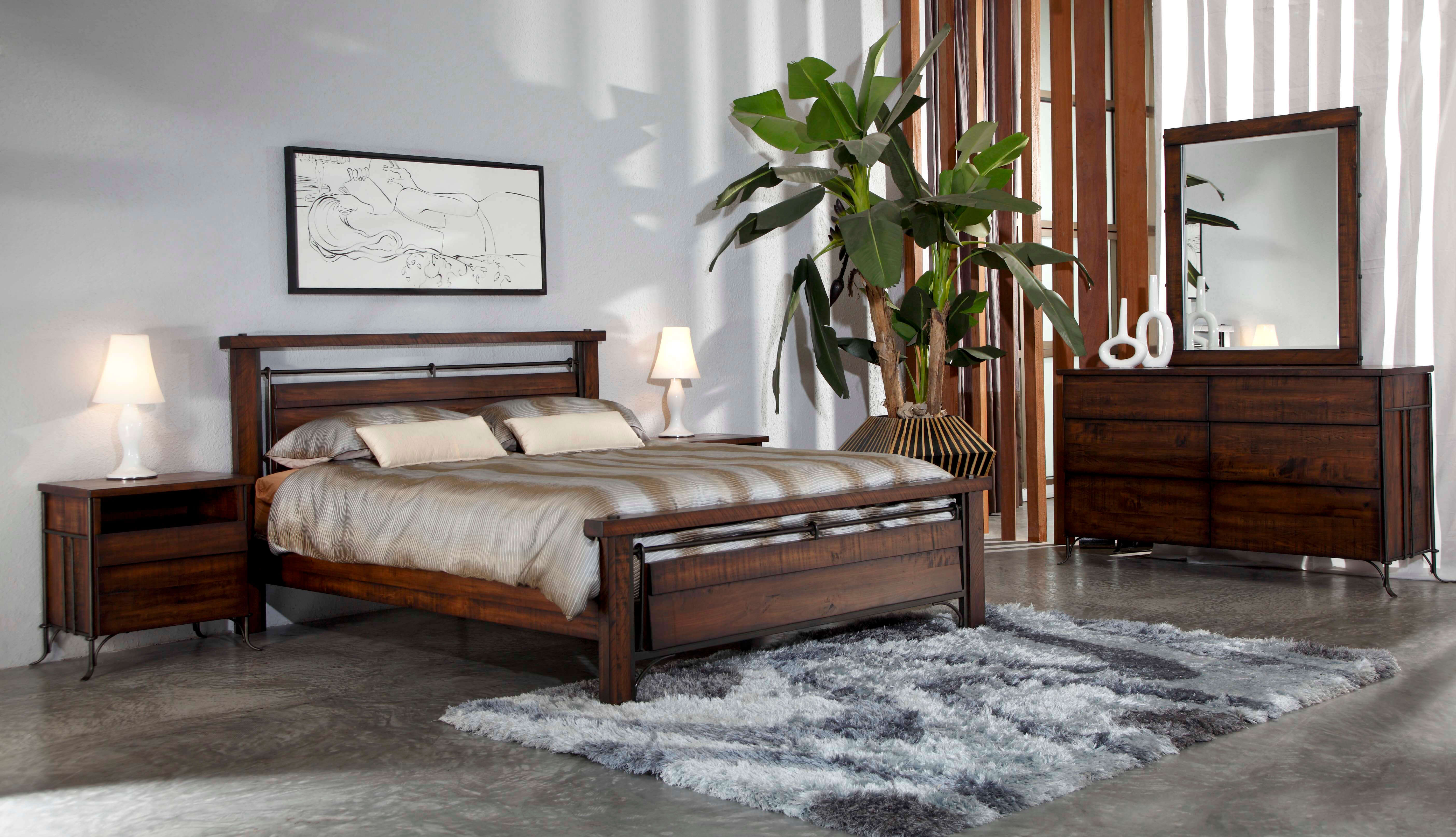 Forge bedroom set by quality bedroom seattle for Quality bedroom furniture sets