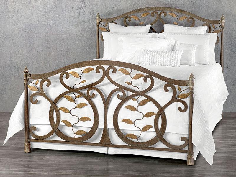 Laurel Iron Bed by Wesley Allen | Bedrooms & More