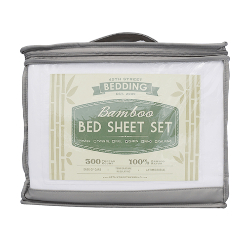 Bamboo Bed Sheet in Packaging