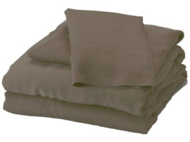 Bed Voyage Mocha Sheet Set