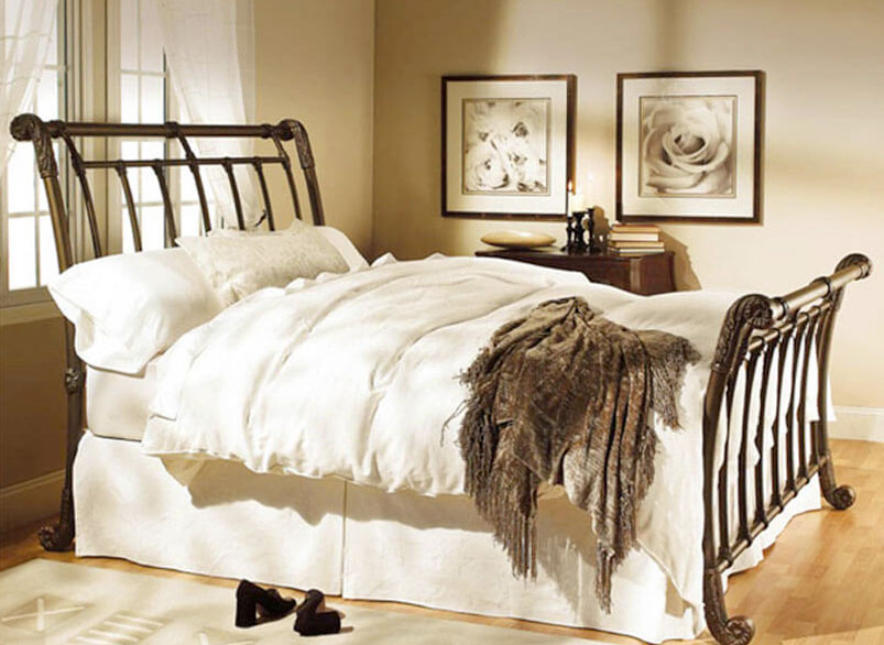 Brookshire Iron Bed by Wesley Allen | Bedrooms & More