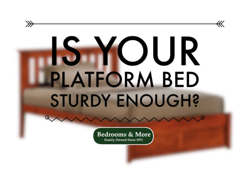 Sturdy Rosemary Platform Bed from Bedrooms & More Seattle