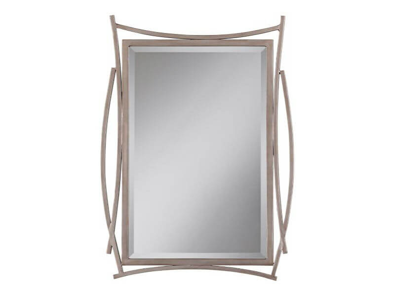 Pacific Coast Lighting Brutus Mirror Silver Bedrooms and More Seattle