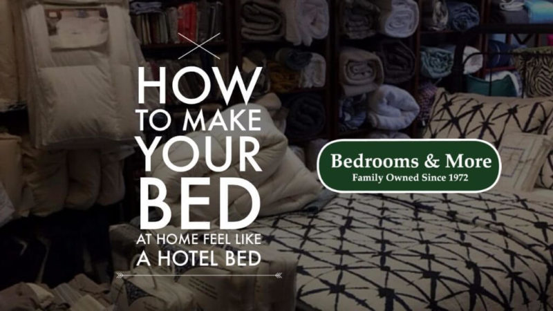 how to make your bed at home feel like a hotel bed
