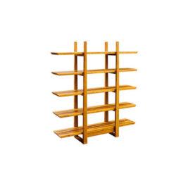 tiger bamboo Magnolia bookshelf by Greenington