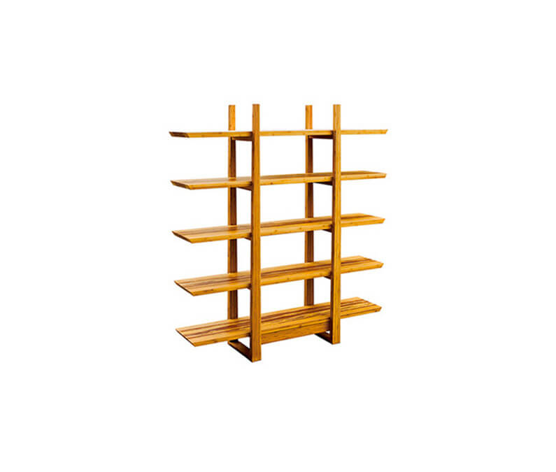 tiger bamboo Magnolia bookshelf by Greenington