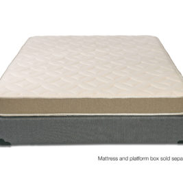 Firm natural latex mattress with wool