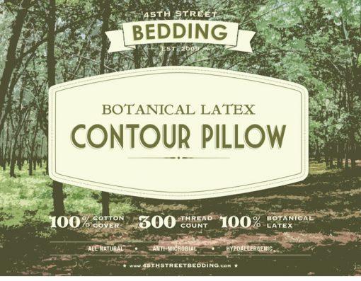 45th Street Bedding Botanical Latex Contour Pillow