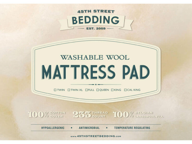 Best Washable Wool Mattress Pad Seattle
