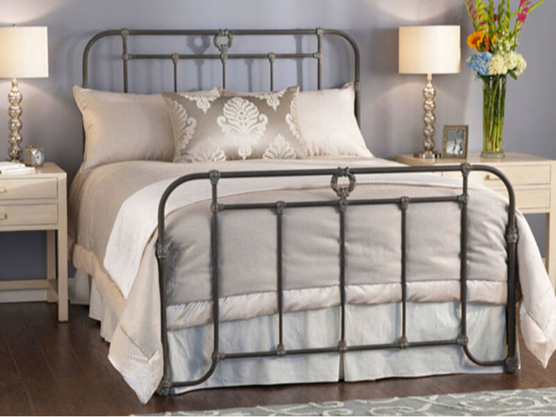 Wellington iron bed by wesley allen bedrooms more for Beds wellington