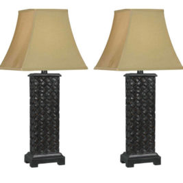 Kenroy Woven Table Lamp Bedrooms and More Seattle